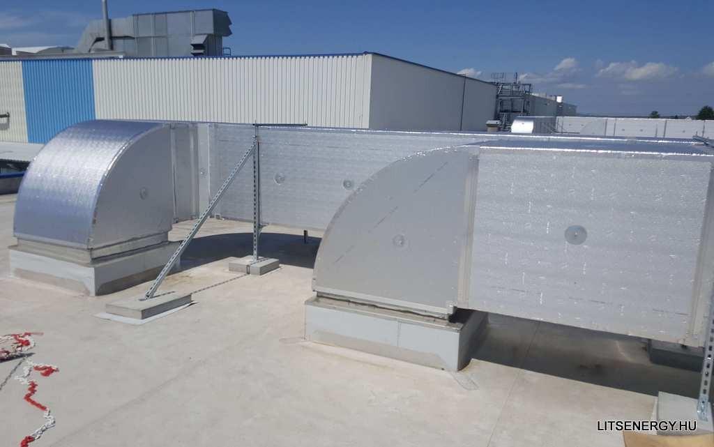 Az előszigetelt légcsatorna rendszer